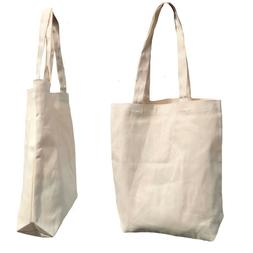 Canvas Cotton Reusable Grocery Shopping Tote Bags Gusset Nat