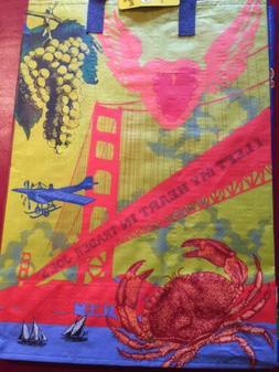 One Trader Joe's Reusable Grocery Tote Bag San Francisco Ex