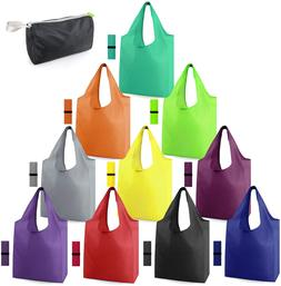 10 Pack Grocery-Bags Foldable Reusable Shopping-Bags-Bulk Co