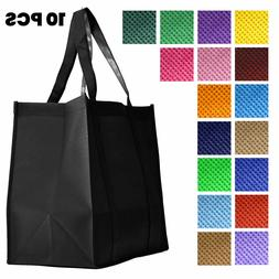 HEAVY DUTY Reusable Large Non-Woven Tote Grocery Shopping B