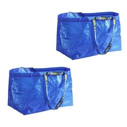 10 LARGE REUSABLE SHOPPING BAG LAUNDRY TOTE GROCERY STORAGE