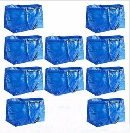 IKEA 10 Large Shopping Bags Laundry Tote Grocery Storage Reu