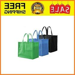 12 Pack Large Foldable Reusable Grocery Tote Bags Shopping B