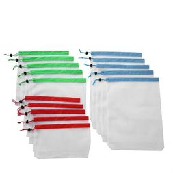 15pcs Reusable Mesh Produce Bags Washable Bags for Grocery S