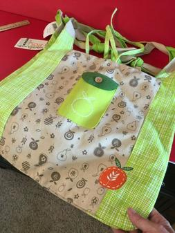 2 Lime Brand New Ecojot Reusable Grocery Shopping Bags with