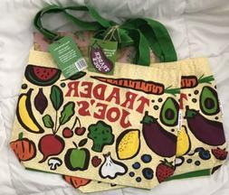 2 NEW Trader Joe's Reusable 100% Cotton Eco Tote Bag  ♻️