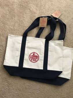 2 NEW Trader Joe's Reusable Canvas Eco Tote Bag  ♻️