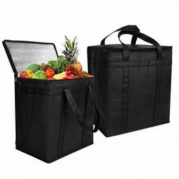 1/2 Pack Reusable Grocery Shopping Bag Insulated Heavy Duty