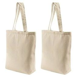 2 Pcs Reusable Blank Canvas Tote Bags,for Grocery Bags,Book