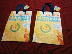 2 Trader Joe's Nashville Reusable Bag New With Tag Grocery T