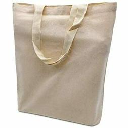 20 Pack Of Natural Cotton Bags In Bulk, Reusable Grocery Bag