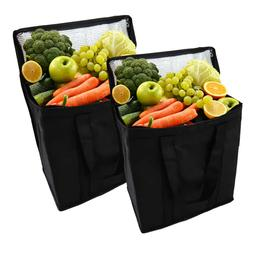 2Set Insulated Cooler Bag,Reusable Grocery Shopping Bag with