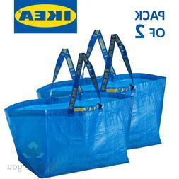 2x IKEA Bag, Blue, Large Size 19 gallon Shopping Laundry Gro