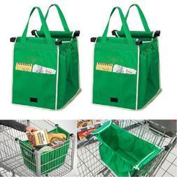 2x Foldable Eco Reusable Grocery Shopping Bag Grab Supermark