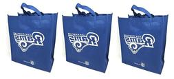 3 Los Angeles Rams Reusable Shopping Grocery Tote Gift Bags