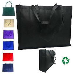 3 Pack Extra Large Reusable Grocery Shopping Tote Bags Recyc