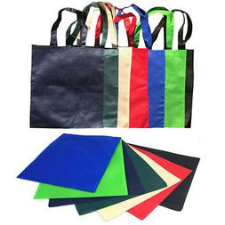 100 Lot Plain Reusable Grocery Shopping Totes Bag Bags Recyc