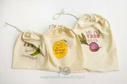 3 washable reusable produce  bags, grocery shopping storage