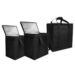 3Pack Insulated Reusable Grocery Bag Food Delivery Bag with