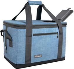40 Can Large Reusable Grocery Bag Soft Cooler Collapsible Ou