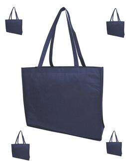 Navy Blue Jumbo Size Grocery Shopping Bag Reusable Eco Frien