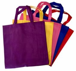 5 Pack Promo Tote Bags Reusable Grocery and Travel Totes - P