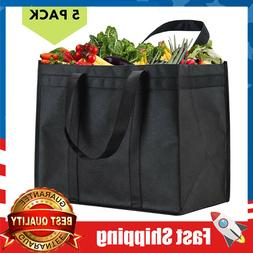 5 Pack XL Reusable Grocery Bags,Heavy Duty Shopping Tote,Fol