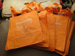 "5 Reusable Grocery Bags Instacart 14""x12""x9"" USA seller oran"