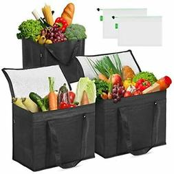Syntus 5 Set Insulated Reusable Grocery Bags 2 Pack XL Coole