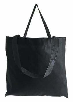 50 PCS Black Color Non Woven Reusable Grocery Tote Bag Large