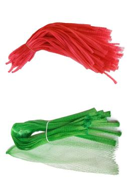 500 Red & Green Reusable Nylon Poly Mesh Produce net Grocery