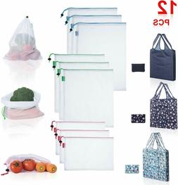 5pcs Reusable Grocery Bags Produce Fruit Bag Eco Friendly Sh