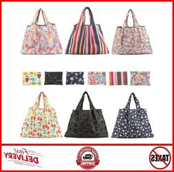 6 Pack Reusable Grocery Bags Large Foldable Shopping Tote Ba