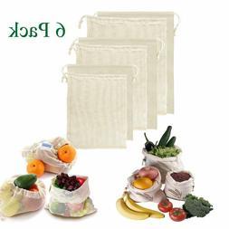 6 reusable produce bags eco friendly biodegradable