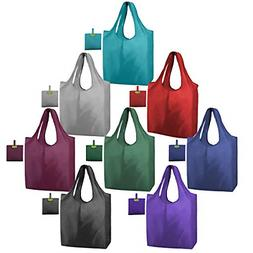 8Set Reusable Grocery Bags Foldable Washable Shopping Totes