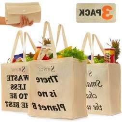 canvas grocery bags reusable shopping bags washable