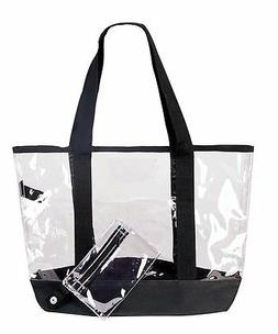 Clear Tote Work Bag See Through Totes Grocery Shopping Bags