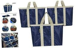 CleverMade SnapBasket Reusable Grocery Shopping Bags with Re