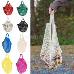 Cotton String Mesh Shopping Grocery Bag Reusable Tote Basket