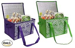 Earthwise Insulated Reusable Grocery Bag Shopping Box with R