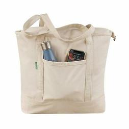 Earthwise Reusable Grocery Bag 100% Cotton Heavy Duty Tote i