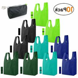 """Eco-Friendly Reusable Shopping Grocery Bags 14.2"""" x 27.5"""" x"""