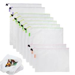 Eco Friendly Washable Reusable Mesh Storage Shopping Bags Fo