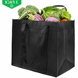 Awekris Extra Large Reusable Grocery Tote Bag, Heavy Duty Sh