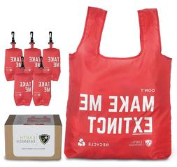 Extra Large Reusable Heavy-Duty Grocery Shopping Bags W/ Min