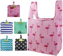 Foldable Reusable Grocery Bags Bulk 5 Cute Designs Folding S