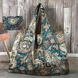 Folding Handbag Eco Shopping Travel Thick Big Shoulder Bag R