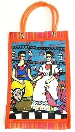 Frida Kahlo. Market Mercado Mexican Bag. Mesh Reusable Beach