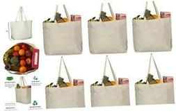 Greenmile 6 Pack Reusable Grocery Bags with Extra Strong Han