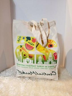 Grocery Bags reusable Market Tote Large, Cotton Canvas, Coll